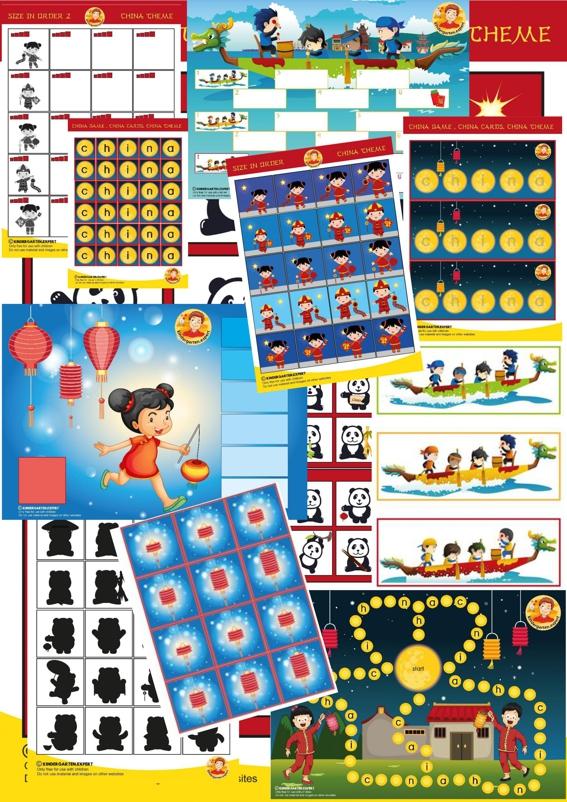 Game package, China theme for kindergarten, kindergarten expert.