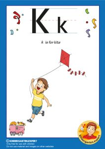 K is for kite, kindergarten expert, free printable