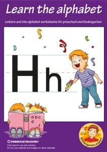 Letters & alphabet worksheets for preschool and kindergarten, letter H, kindergarten expert, free printable