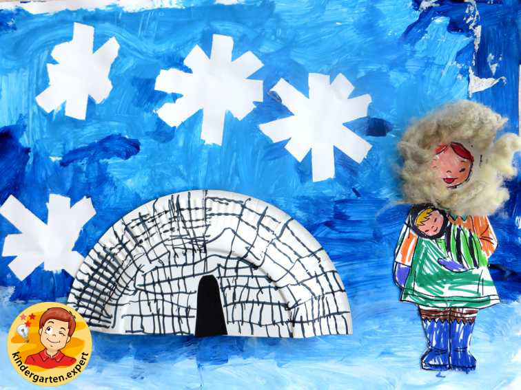 Collage North Pole with description 1, North Pole and South Pole theme, kindergarten