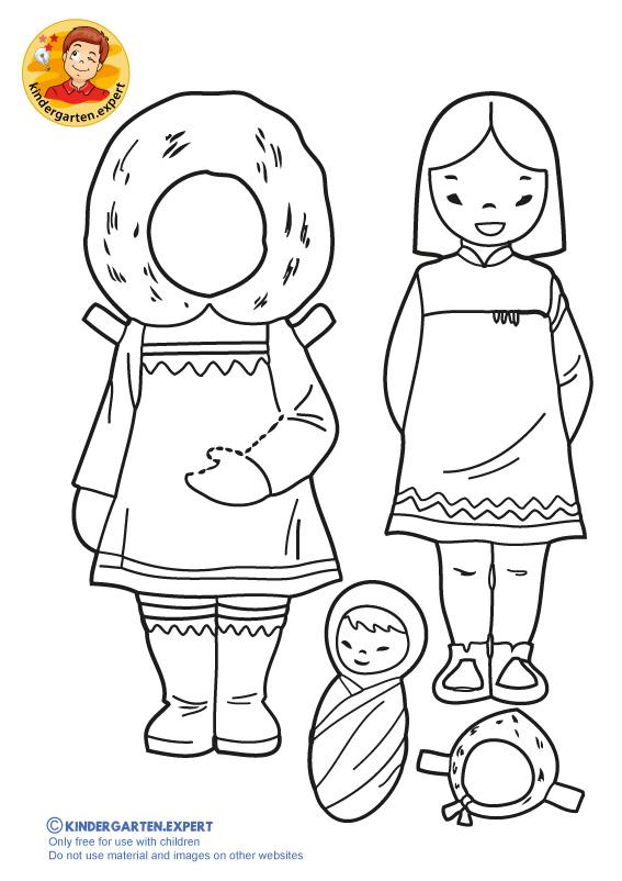 Eskimo girl, kindergarten expert