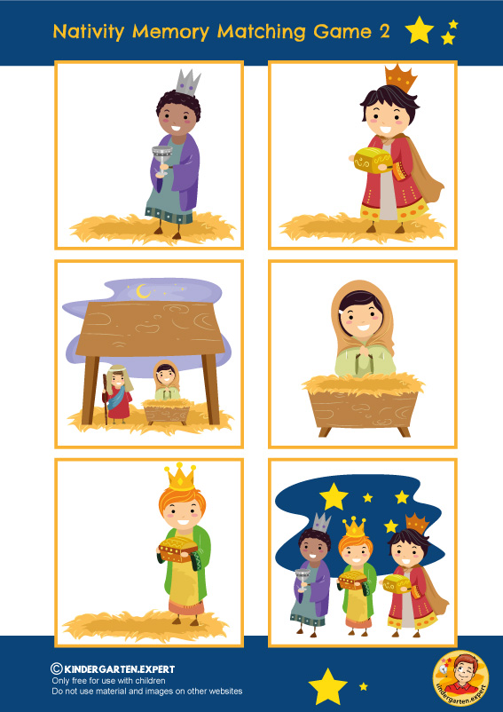 Nativity memory matching game 2, kindergarten and preschool, kindergarten Expert