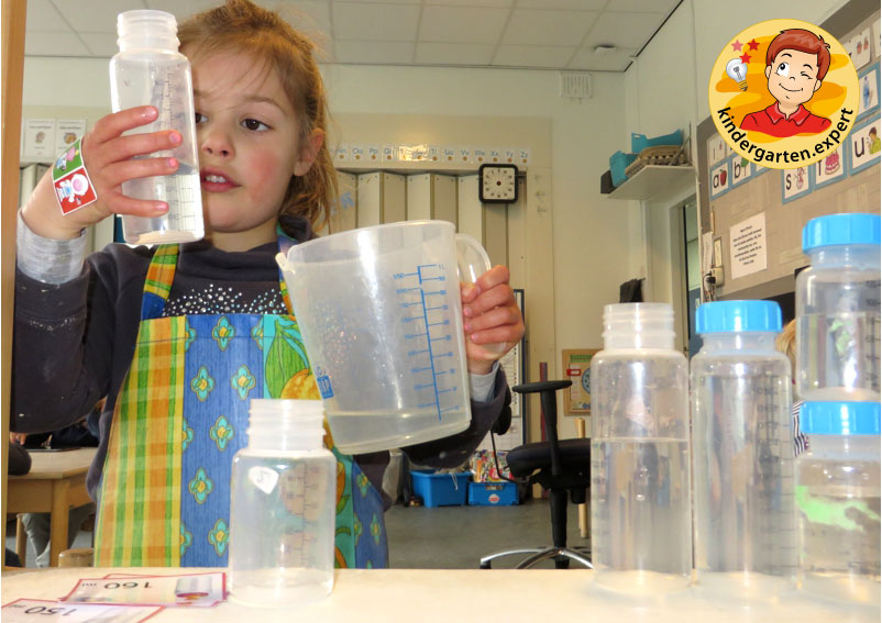 Task cards, filling baby bottles in the water table 2, theme center, baby theme, kindergarten expert
