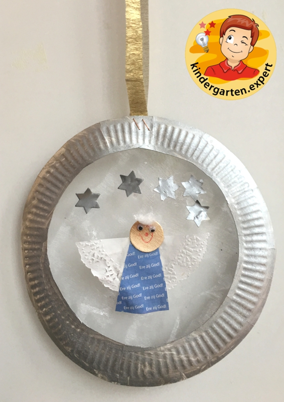 Window decoration angel craft, kindergarten and preschool, kindergarten Expert