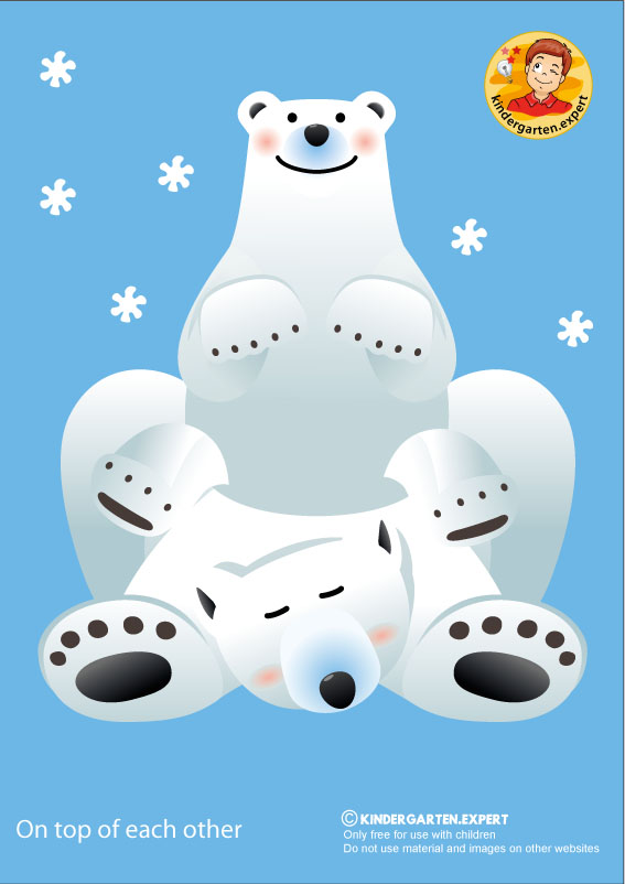 Bear 2, on top of each other, North Pole and South Pole theme, free printable, kindergarten expert