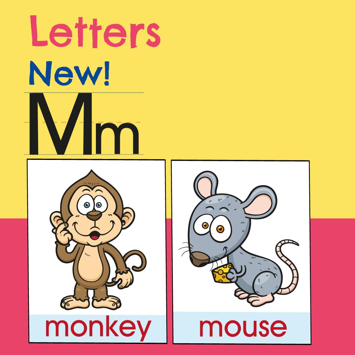 Letters alphabet, kindergarten expert