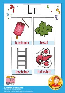 Early childhood sight words letter l, kindergarten.expert