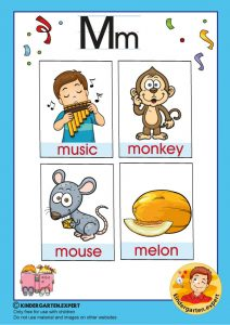 Early Childhood Sight Words, letter M, for kindergarten, kindergarten expert, free printable