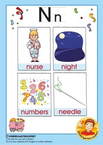 Early Childhood Sight Words, letter N, for kindergarten, kindergarten expert, free printable