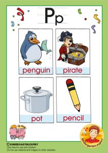 Early Childhood Sight Words, letter P, for kindergarten, kindergarten expert, free printable