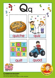 Early Childhood Sight Words, letter Q, for kindergarten, kindergarten expert, free printable