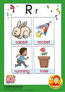 Early Childhood Sight Words, letter R, for kindergarten, kindergarten expert, free printable