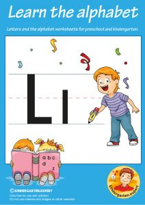 Letters & alphabet worksheets for preschool and kindergarten, letter L, kindergarten expert, free printable