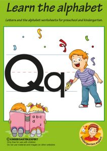 Letters & alphabet worksheets for preschool and kindergarten, letter Q, kindergarten expert, free printable