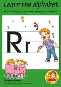 Letters & alphabet worksheets for preschool and kindergarten, letter R, kindergarten expert, free printable