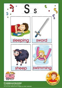 Early Childhood Sight Words, letter S, for kindergarten, kindergarten expert, free printable
