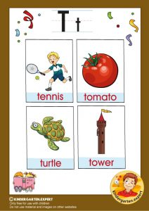 Early Childhood Sight Words, letter T, for kindergarten, kindergarten expert, free printable