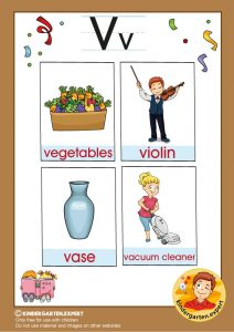 Early Childhood Sight Words, letter V, for kindergarten, kindergarten expert, free printable