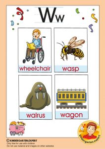 Early Childhood Sight Words, letter W, for kindergarten, kindergarten expert, free printable