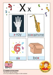 Early Childhood Sight Words, letter X, for kindergarten, kindergarten expert, free printable