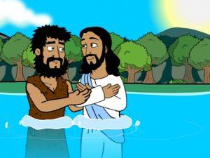 Baptism of Jesus, bible images for kids, kindergarten expert