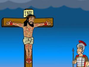 Jesus on the cross, bible images for kids, kindergarten expert