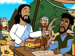 The calling of Levi, bible images for kids, kindergarten expert
