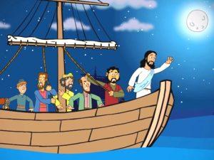 Jesus calms the storm, bible images for kids, kindergarten expert