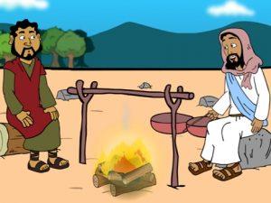 Jesus asks Peter, Do you love me, bible images for kids, kindergarten expert
