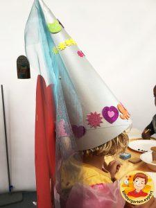 Hat for a noblewomen 2, knights and noblewomen theme, kindergarten expert