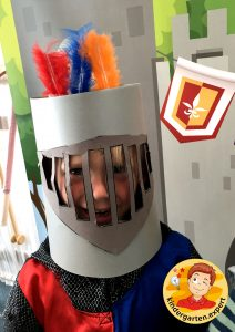Helmet for a knight 2, knights and noblewomen theme, kindergarten expert