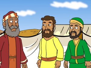 Korah, Dathan and Abiram Aaron's rod, bible images for kids, kindergarten expert