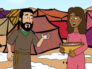 Manna in the desert, bible images for kids, kindergarten expert