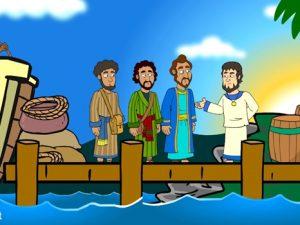 Paul, Barnabas, Bar-Jesus and Elymas, bible images for kids, kindergarten expert