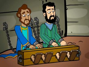 Paul and Silas in Prison, bible images for kids, kindergarten expert