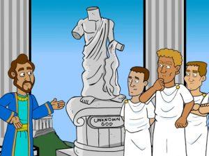 Paul in Athens, bible images for kids, kindergarten expert