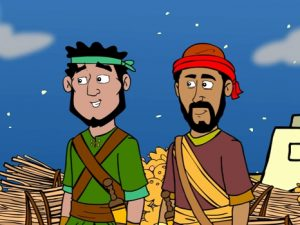 Rahab and the spies, bible images for kids, kindergarten expert