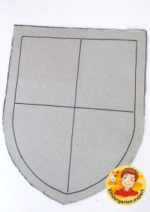 Shields for knights 1, knights and noblewomen theme, kindergarten expert g