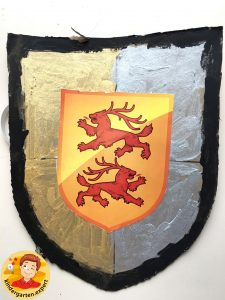 Shields for knights 4, knights and noblewomen theme, kindergarten expert