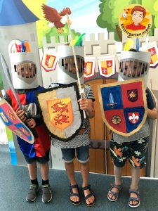 Shields for knights 7, knights and noblewomen theme, kindergarten expert