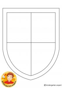 Shields for knights 8, knights and noblewomen theme, kindergarten expert