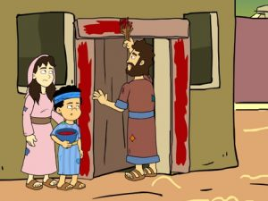 The escape from Egypt, bible images for kids, kindergarten expert
