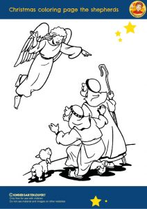 Christmas coloring page the shepherds 2, Christmas theme, kindergarten expert, free printable