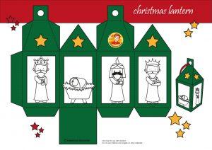 Christmas lantern green, Christmas theme, kindergarten expert, free printable