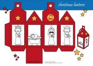 Christmas lantern red, Christmas theme, kindergarten expert, free printable