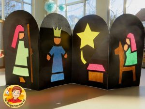 Christmas window, christmas craft, preschool and kindergarten, kindergarten expert