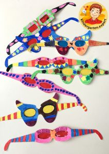 Colorful glasses 4, eye theme, kindergarten expert