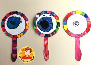Look in the mirror and draw your eye 2, eye theme, kindergarten expert