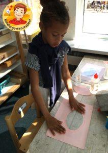 Making an eye in kindergarten 3, eye theme, kindergarten expert