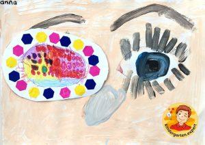 Making an eye patch in kindergarten 1, eye theme, kindergarten expert
